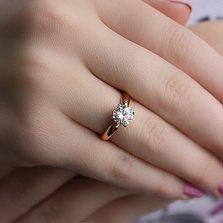 Золотое кольцо с камнем Swarovski Кристел