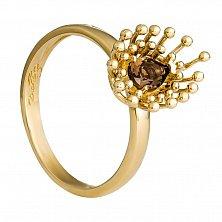 Золотое кольцо с раухтопазом Ванесса