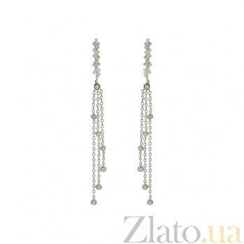 Золотые серьги с бриллиантами Диодора 1С441-0223