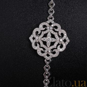Золотой браслет с бриллиантами Виора 000029890