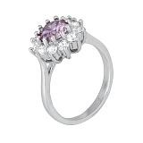 Серебряное кольцо с фианитами Марсэйли