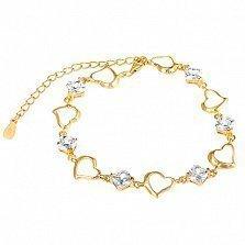 Серебряный браслет с цирконием Любовь