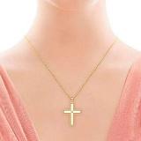 Крестик из желтого золота с бриллиантом Тайна: Союз