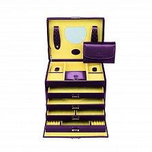 Раскладная шкатулка для украшений Merino на замке с зеркалом Aubergine (фиолетовый), 26х22х20,5см