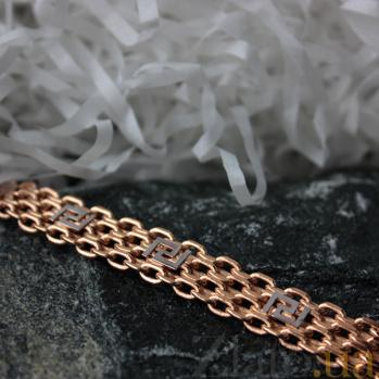 Золотой браслет дабл фор Бисмарк 000013730