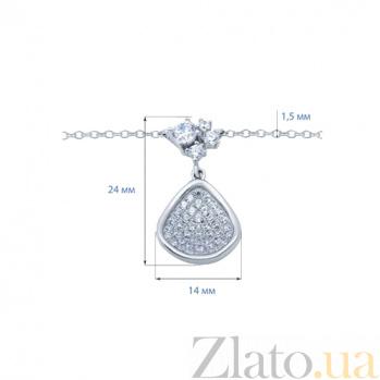 Серебряное колье с куб. циркониями Свежесть весны AQA--XJT-0018-N