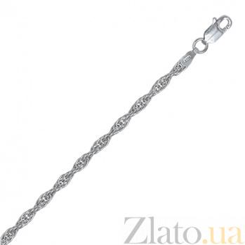 Серебряная цепь Монреаль с родированием, 2,5 мм, 55 см 000027587