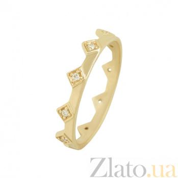 Золотое кольцо с фианитами Королевна 2К220-0312