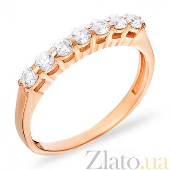 Золотое кольцо с фианитами Лакретия SUF--140254