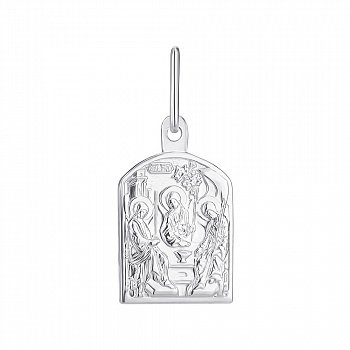 Ладанка из серебра Святая Троица 000145981