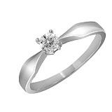 Кольцо из белого золота Вкус любви с бриллиантом