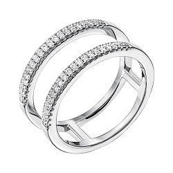 Серебряное кольцо с фианитами 000134705