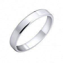 Обручальное кольцо Классический элемент из серебра