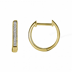 Серьги из желтого золота Милагрос с бриллиантами