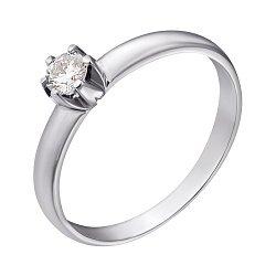 Кольцо в белом золоте с бриллиантом 0,25ct 000070538