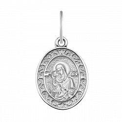 Серебряная ладанка Богородица с узором 000132098