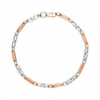 Золотой браслет в комбинированном цвете 000147897