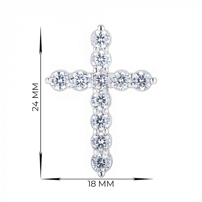 Серебряный крестик с фианитами 000148228 000148228