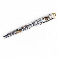 Серебряная ручка с позолотой Ирисы