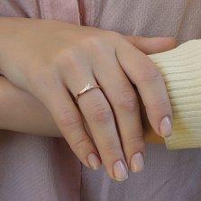Кольцо в красном золоте Единственная с бриллиантом огранки принцесса