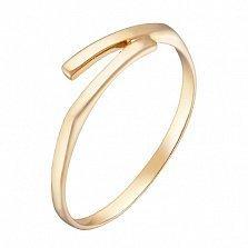 Золотое кольцо Урсула в желтом цвете