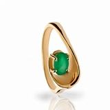 Золотое кольцо с изумрудом Честер