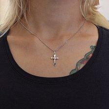 Крестик из белого золота Символ веры