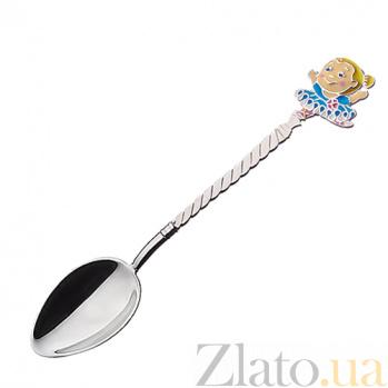 Серебряная кофейная ложка Танцовщица 2.91.0081