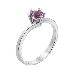 Серебряное кольцо с аметистом 000079714