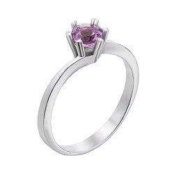 Серебряное кольцо Янина с аметистом