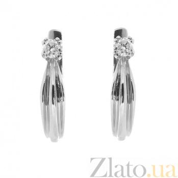Золотые серьги с бриллиантами Мира ZMX--ED-5521w_K