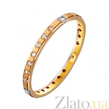 Золотое обручальное кольцо Con amore с фианитами TRF--412935