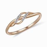 Кольцо из красного золота с бриллиантами Адела