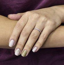 Кольцо Миннесота из белого золота с дорожкой бриллиантов