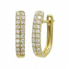 Серьги из желтого золота Асия с бриллиантами