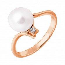 Золотое кольцо с жемчугом Анелия