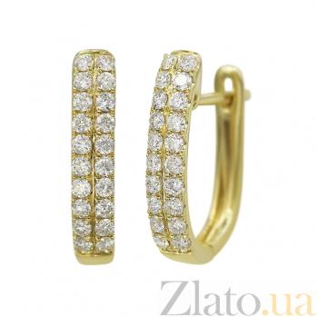 Серьги из желтого золота Асия с бриллиантами 000081238