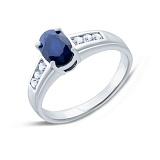 Серебряное кольцо с сапфиром Лора