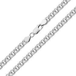 Серебряная цепь Теола в плетении арабский бисмарк, 5мм