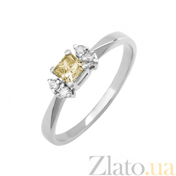 Кольцо в белом золоте Авалайн с бриллиантами 000079335
