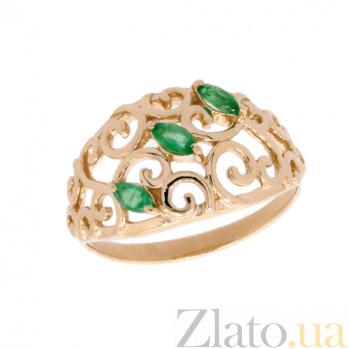 Золотое кольцо в красном цвете с изумрудами Джульетта ZMX--RE-5522_K