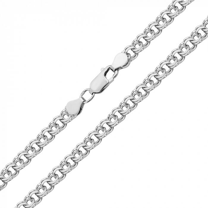 Серебряная цепь Теола в плетении арабский бисмарк, 5мм 000078662