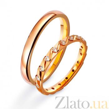 Золотое обручальное кольцо Дорога жизни с фианитами TRF--412893