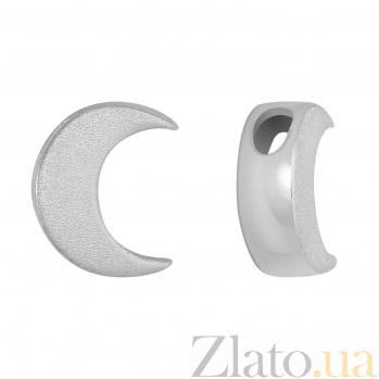 Подвес Луна в матовом белом золоте SVA--3001223102мат/Без вставки
