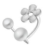 Серебряное кольцо с жемчугом Лунный аромат