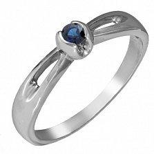 Золотое кольцо Прима с сапфиром