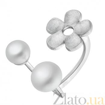 Серебряное кольцо с жемчугом Лунный аромат Р2-ЖЖ