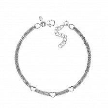 Серебряный браслет в плетении Попкорн 000124505