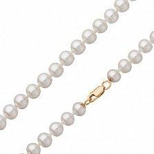 Жемчужное ожерелье Меата с золотым замком, диам. 9,0-9,5мм