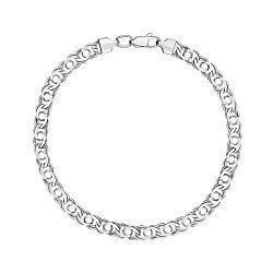 Серебряный браслет в плетении арабский бисмарк 6 мм 000121513